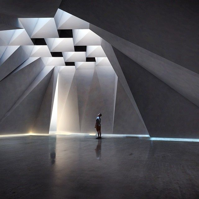 Architecture we like / Light / Seelings / Concrete / Heroic / at Design Binge