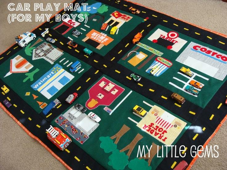Noah's Birthday Gift!!....My Little Gems: My {DIY} Car Play Mat + cute car mat links