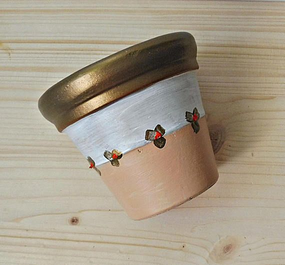 Painted Clay Pots Painted Pot Clay Flower Holder Painted
