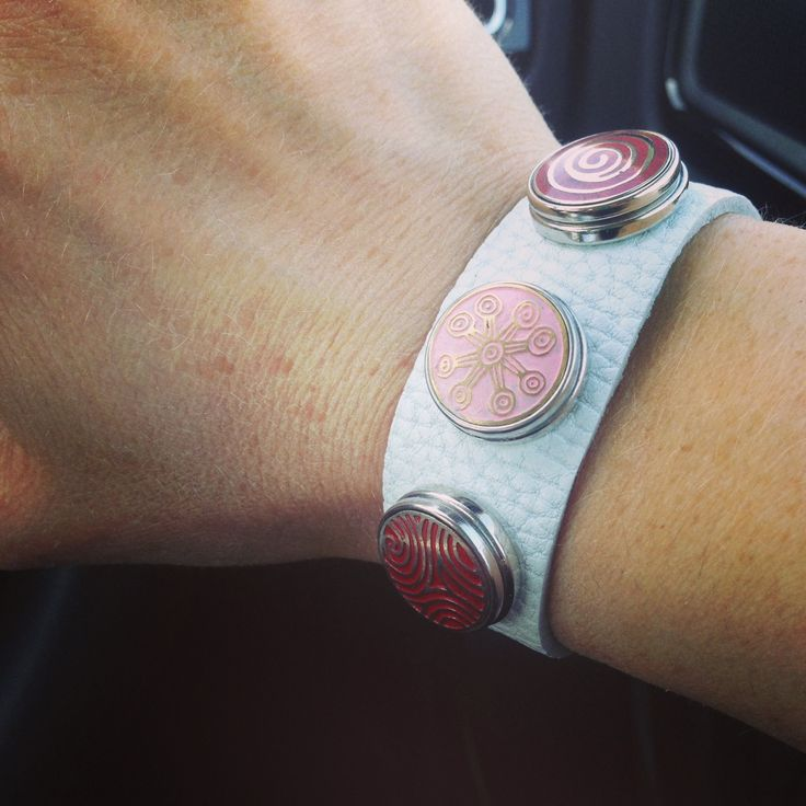 Another gorgeous combination of Mila + Ruby hand-crafted Pebbles on a super soft genuine leather cuff bracelet