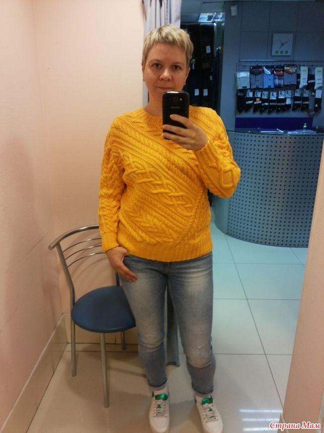 Пуловер спицами от Ralph Lauren вяжем вместе он лайн