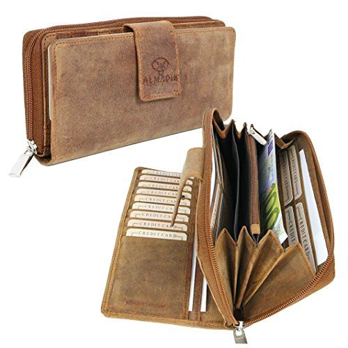 b652b149bcec7 Modell  ALMADIH Damen-Portemonnaie P27 Material  Rindsleder   Farbe  Braun  Vintage Das