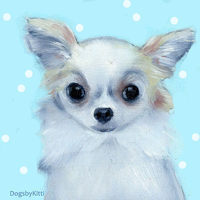 Chihuahua oilpainting