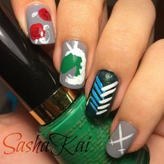 The 25 best anime nails ideas on pinterest sailor moon nails easy anime nail art attack on titan google search prinsesfo Gallery