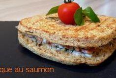 Croque au saumon fumé  ( Dukan )