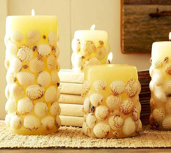 36 Breezy Beach Inspired DIY Home Decorating Ideas, could do this with just about anything and add colour to any room