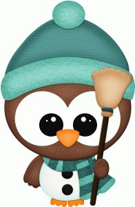 Silhouette Design Store - View Design #71176: owl dressed as snowman pnc