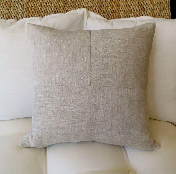 Linen Pillow Cover, 18x18 inch, 20 x 20 inch, Modern Pillow Cover, Solid Pillow Cover, Decorative Pillow, Minimalist Pillow, Throw Pillow