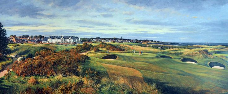 Donald Shearer Championship Course, Carnoustie Signed Limited Edition Print 12x30 | Scottish Contemporary Art