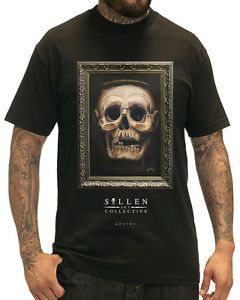 Sullen-Kleidung-Goethe-Herren-T-shirt-Tee-Schwarz-Totenkopf-Tattoo-Gotik