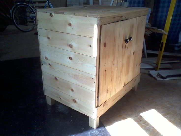 Pallet kitchen cabinet pallet furniture pinterest for Kitchen units made from pallets