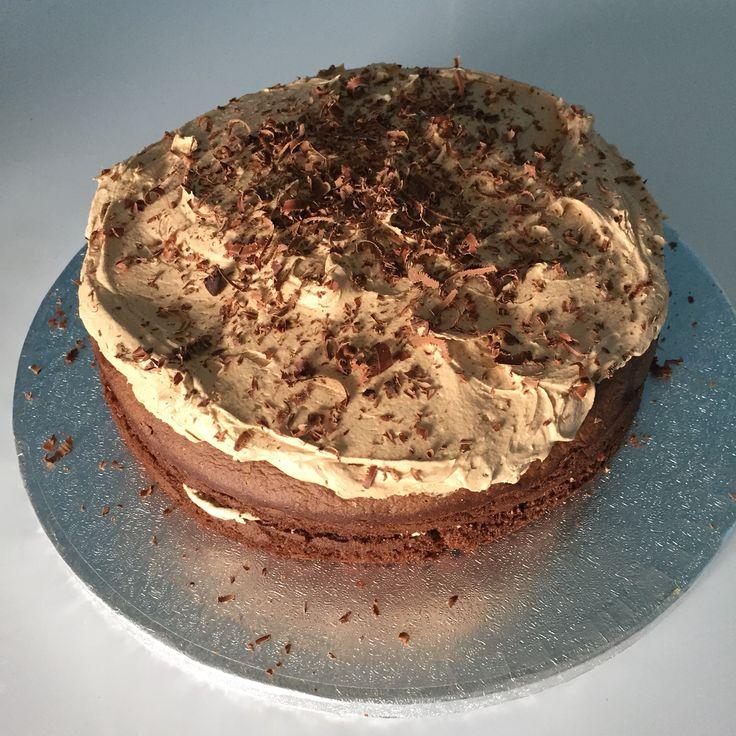 Chocolate Sponge Cake with Chocolate & Coffee Buttercream with Chocolate Sprinkles