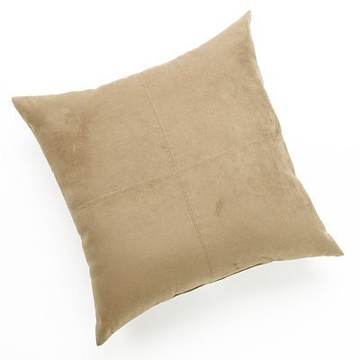 Kohls Yellow Throw Pillows : Brentwood Heavyweight Faux-Suede Oversized Pillow, Blue Products, Pillow sale and Pillows
