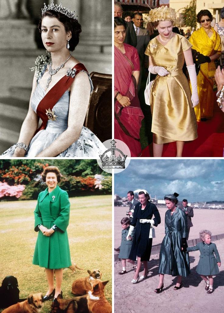 Queen Elizabeth II style through the years: Queen Elizabeth, Style Icons, Combinations Queen, Ii Style