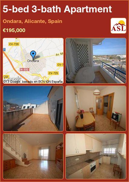 5-bed 3-bath Apartment in Ondara, Alicante, Spain ►€195,000 #PropertyForSaleInSpain