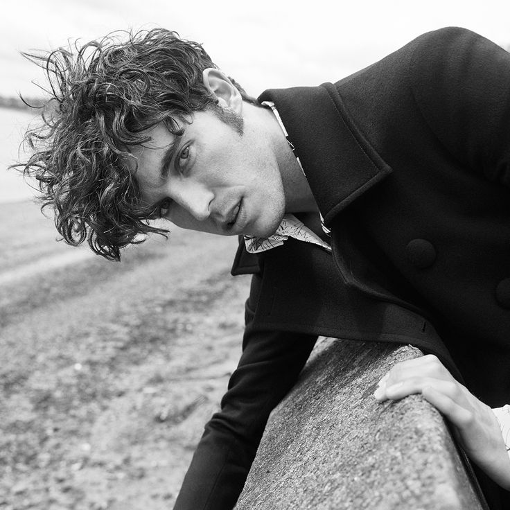 MR Tom Hughes for MR PORTER wearing Prada Double-Breasted Wool Coat and Printed Cotton-Poplin Shirt. Shop Prada on MR PORTER: http://mr-p.co/xEEuVr
