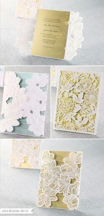 Lazer cut wedding invitations