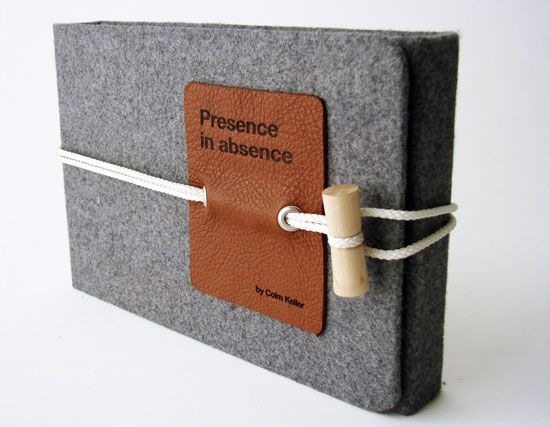 : Covers Book, Portfolio Design, Christmas Gifts Ideas, Packaging Design, Long Distance Relationships, Gifts Wraps, Felt Book, Electronics Packaging, Colm Keller