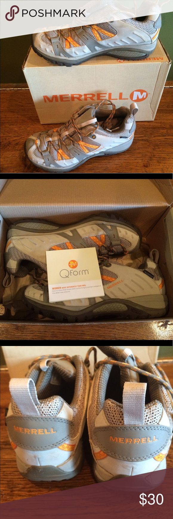 Merrell trekking shoes Look like they've been worn maybe once and are ready to hit the trail! They Come with the box. Merrell Shoes Athletic Shoes