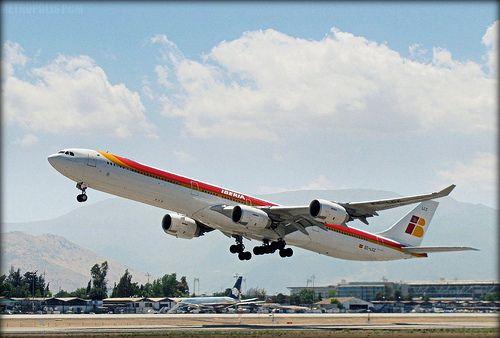 Airbus A340-600 Iberia. ❤❤