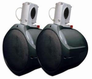 Pair New Pyle PLMRW85 8/'/' 300 Watt Two-Way White Wake Board  Marine Speakers