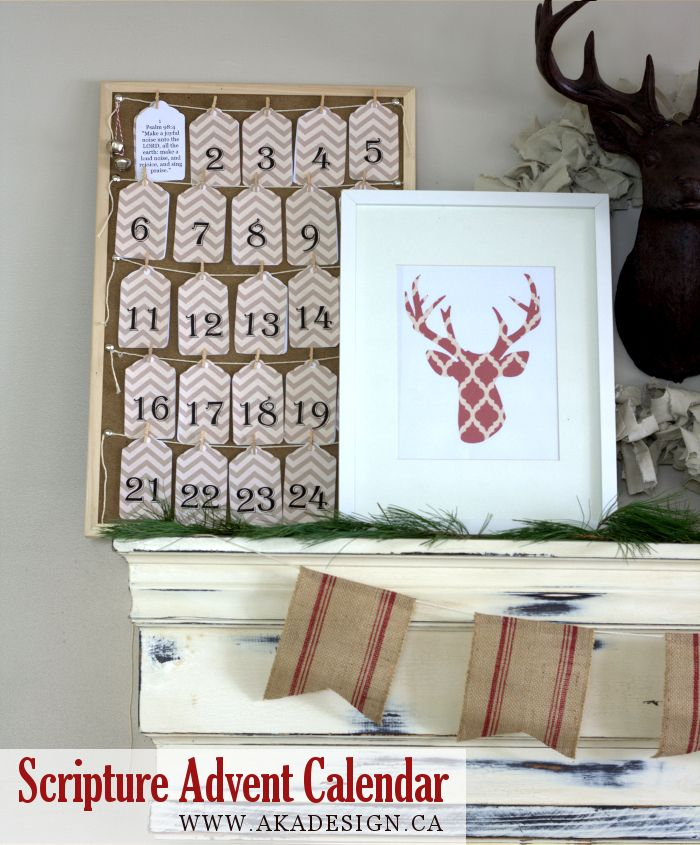Scripture Advent Calendar | Printable - http://akadesign.ca/scripture-advent-calendar-printable/
