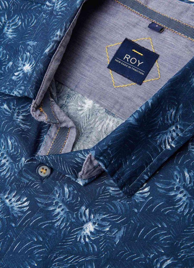 Men summer shirt, leaf & floral prints, casual.