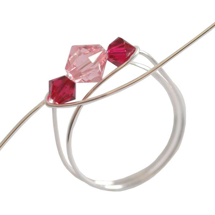 how to make wire rings with beads, I create these with adolescent girls for self esteem building. Girl Scouts