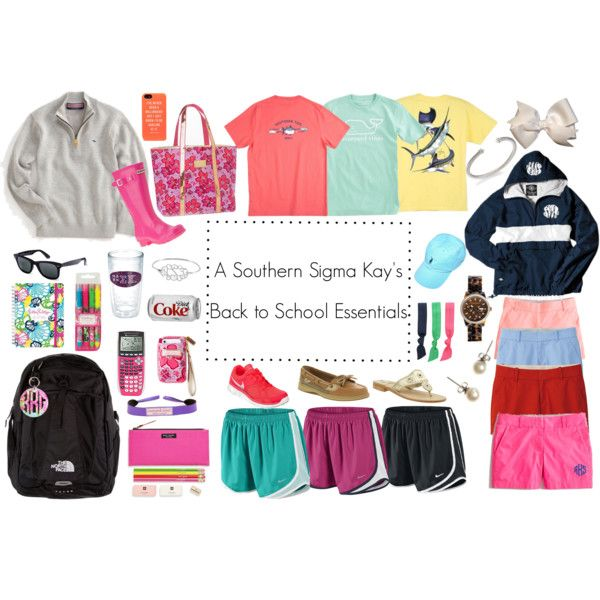 """""""A Southern Sigma Kay's Back To School Essentials"""""""