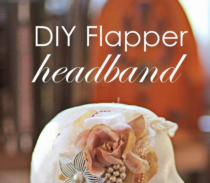 Just in Time for Halloween:    DIY Flapper Headband     Looking for a pretty and inexpensive Halloween costume? Dressing for the Lumber...