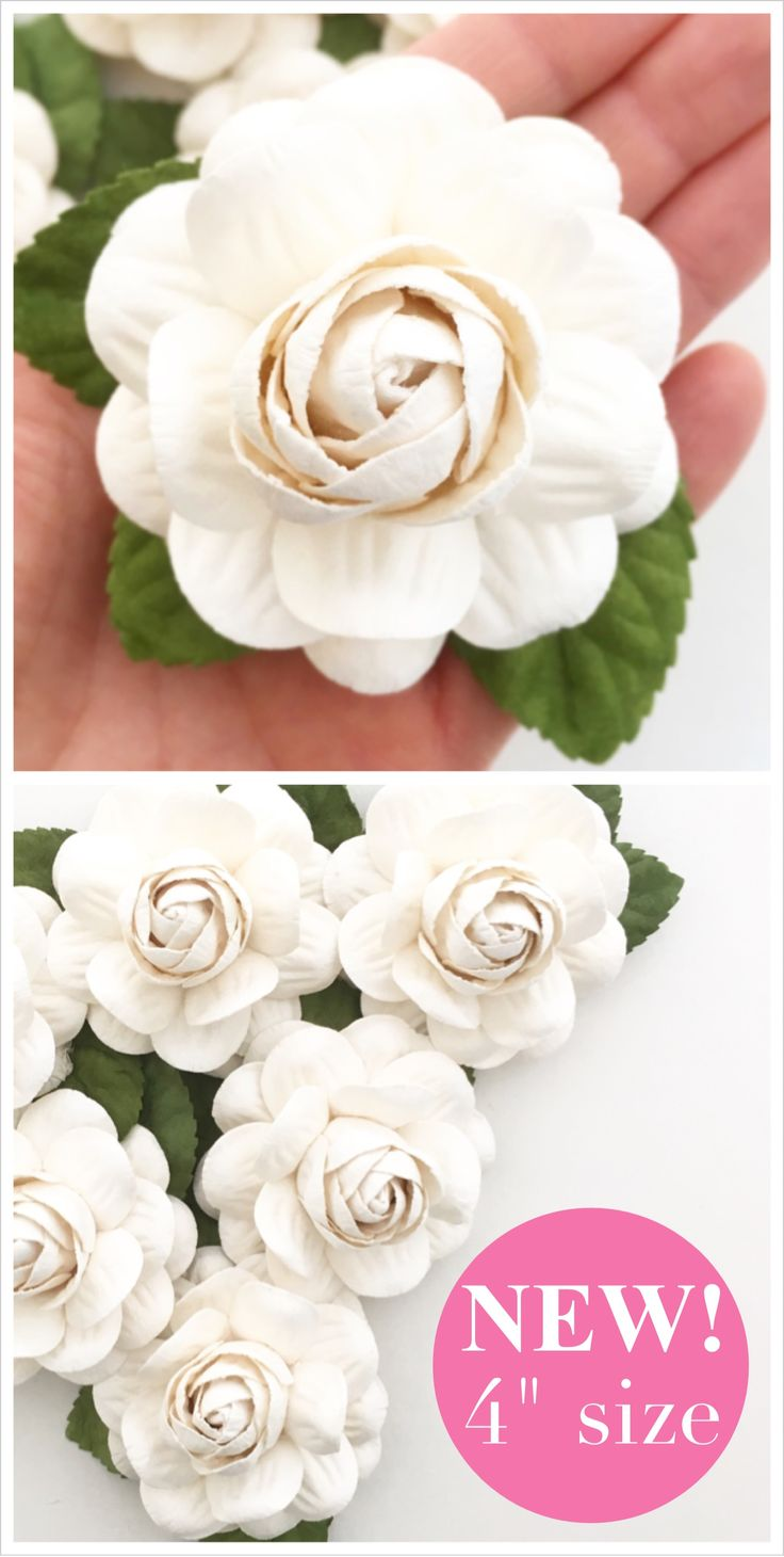 64 best paper flowers images on pinterest flower ball diy 4 paper flowers in white perfect for wedding flower backdrop wall diy wedding dhlflorist Choice Image