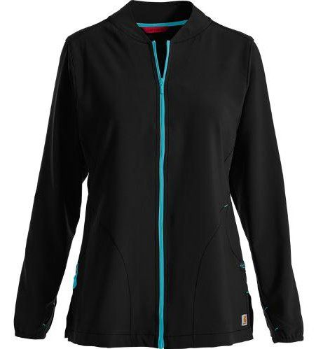 Carhartt Scrubs Force Cross-Flex Women's Zip Front Jacket – XS – BLACK