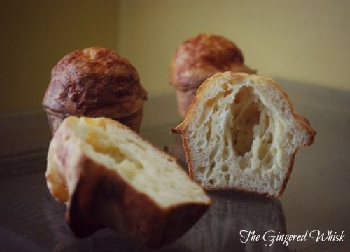 The Gingered Whisk: Sourdough Cheesy Popovers The best of two worlds!