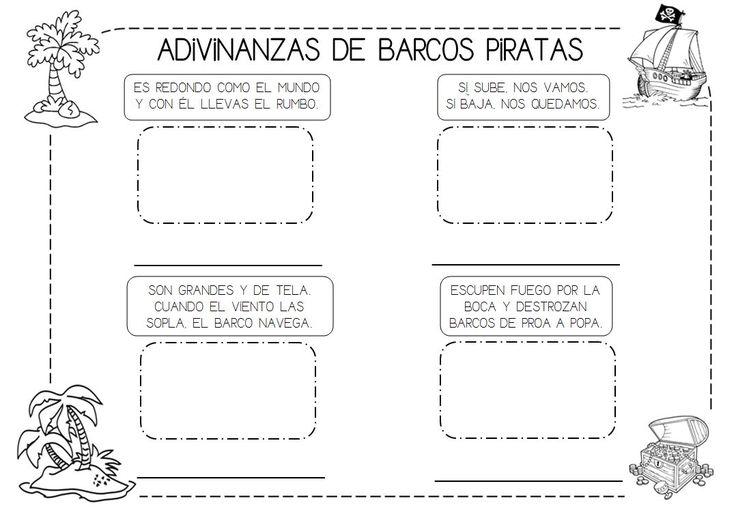 ADIVINANZAS DE BARCOS PIRATAS