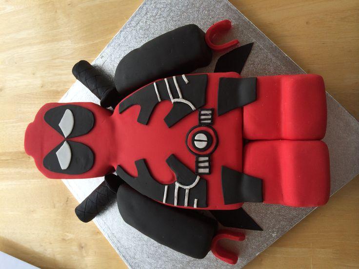 Lego Deadpool Cake