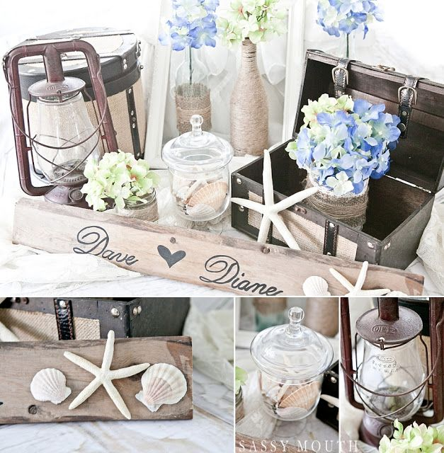 Beach Wedding Decor By Country Girl Collections
