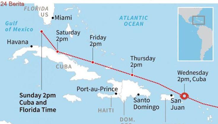Dalam Perjalanan ke Florida, Badai Irma Terjang Kuba, Tinggi Gelombang 7 Meter