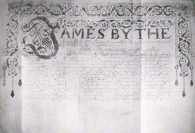 Letter from James I of England to Tokugawa ieyasu