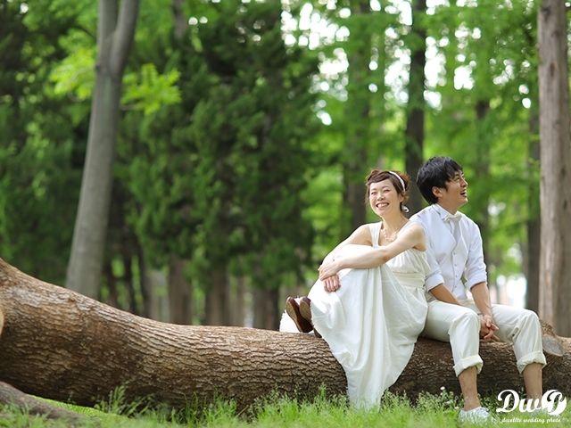 洋装ロケーションフォト|結婚写真 和装前撮り 東京 フォトウエディング専門フォトスタジオのスタジオAQUA