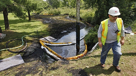 Enbridge, a beleaguered Canadian oil pipeline company, has spilled more than 50,000 gallons of light crude oil in rural Wisconsin --  shortly after the company said it had implemented safety reforms after a massive 2010 spill in Michigan.