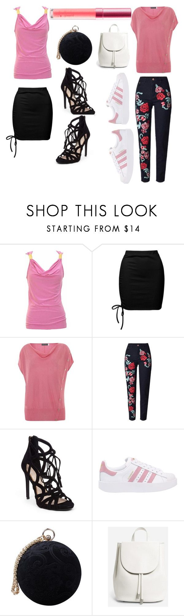 """Do both -pink collection"" by foxx-harvey ❤ liked on Polyvore featuring jon & anna, Sans Souci, Mint Velvet, Jessica Simpson, adidas Originals, Carvela and Everlane"