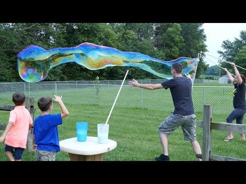 DIY Super Bubbles   Learn to Make Homemade Bubble Solution Now! - YouTube