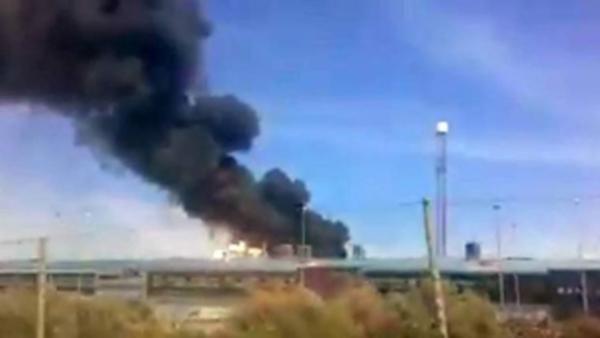 Askeri uçak yere çakıldı