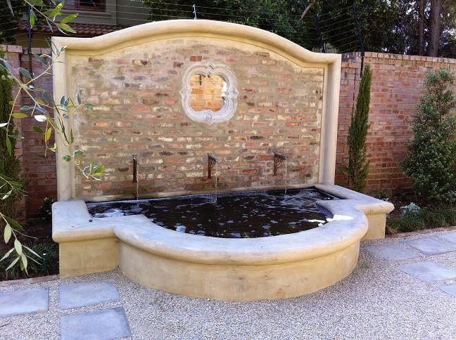 Courtyard Water Feature/ fishpond by www.gardenbleu.co.za