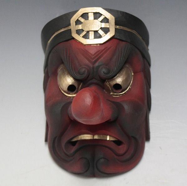 "Wooden Japanese Tengu Mask. This is a mask of the Japanese ""monster spirit"" Tengu."