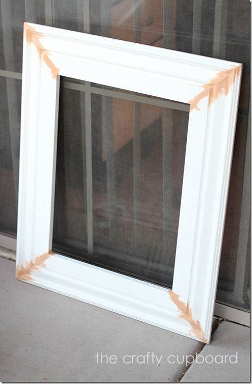 How to Make a Frame Using Molding. 45 degree angled cuts and use L brackets, staples, or wood glue to secure corners.