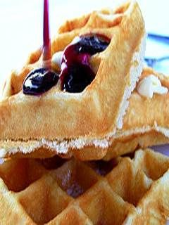Mom's Blueberry Waffle Recipe