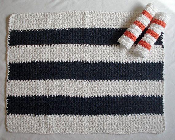 blue and white beach stripe bath mat... Nautical Bath Mats Perfect for a Seaside Summer from Bathroom Bliss by Rotator Rod