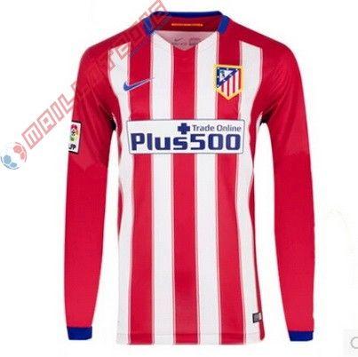 Nouveau maillot de foot Manches Longues Atletico Madrid 2016 Domicile 22,99€