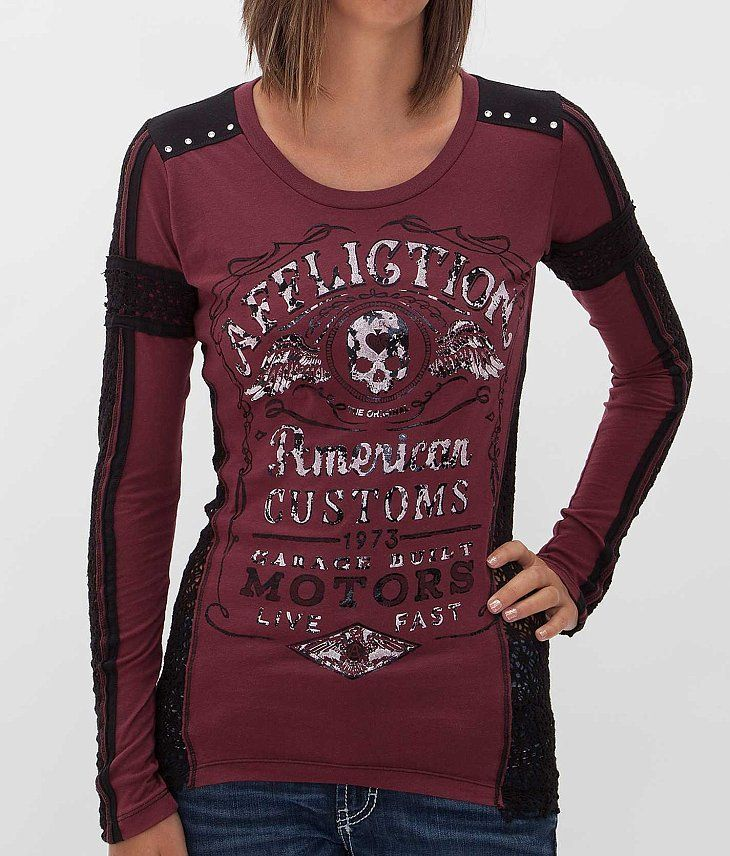 Affliction American Customs Barrel Aged T-Shirt - Women's T-Shirts | Buckle
